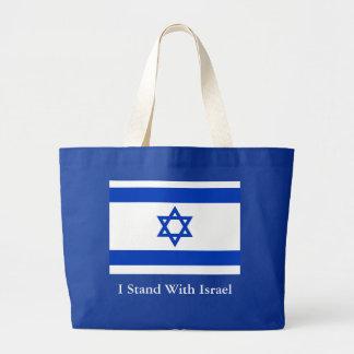 I Stand With Israel Jumbo Tote Bag