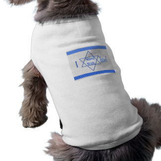 I stand With Israel With My Master Sleeveless Dog Shirt