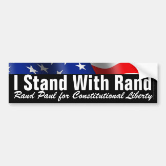 I Stand with Rand Paul Decal Bumper Sticker