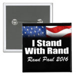 I Stand with Rand Paul Pinback Button