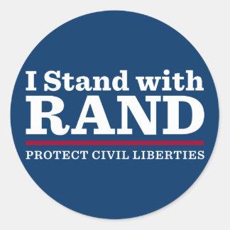 I Stand With Rand Round Sticker