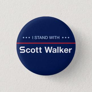 I Stand With Scott Walker 3 Cm Round Badge