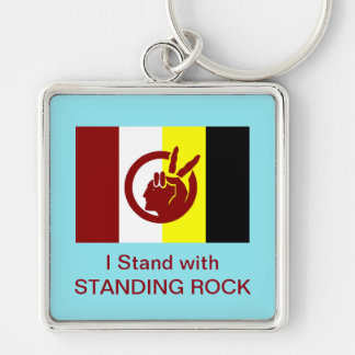 I Stand with Standing Rock: Keychain