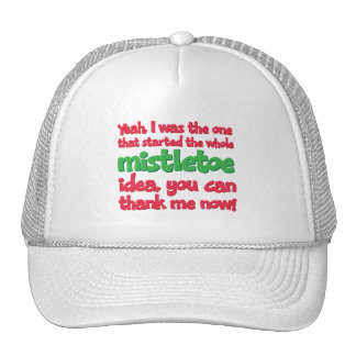 I started the whole Mistletoe Idea Funny Christmas Mesh Hat