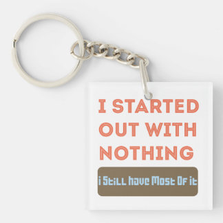 I started with Nothing Single-Sided Square Acrylic Key Ring