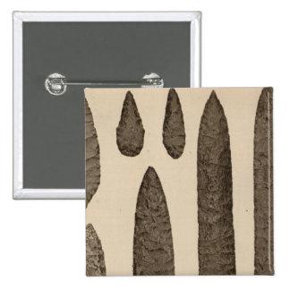 I Stone implements, California 15 Cm Square Badge