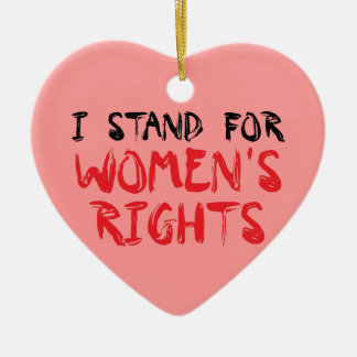 I stood for women's rights for Christmas ornamenta Ceramic Heart Decoration