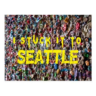 I stuck it to Seattle postcard