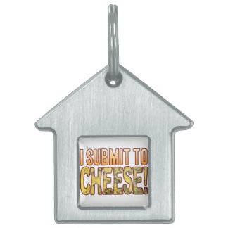 I Submit Blue Cheese Pet Name Tags