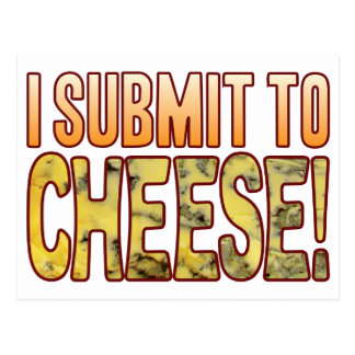 I Submit Blue Cheese Postcard