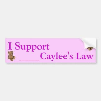 I suport caylee's law bumper sticker
