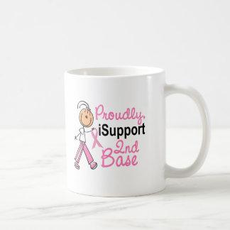 I Support 2nd Base SFT Breast Cancer Basic White Mug