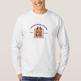 """I Support Animal Welfare"" Mens Longsleeve T-Shirt"