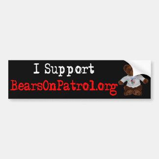 I Support Bears on Patrol Bumper Sticker