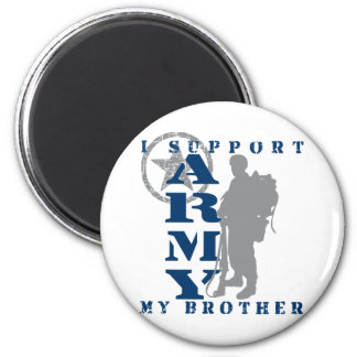 I Support Brother 2 - ARMY 6 Cm Round Magnet