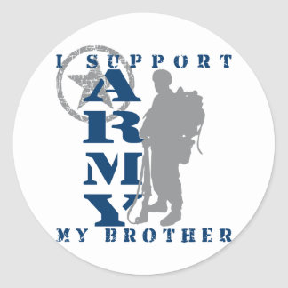 I Support Brother 2 - ARMY Classic Round Sticker