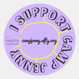 I Support CJ Circle Purple Classic Round Sticker