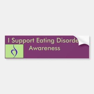 I Support Eating Disorder Awareness Bumper Sticker