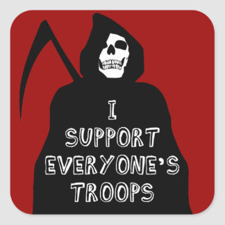 I Support Everyone's Troops Stickers