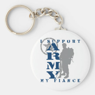I Support Fiance 2 - ARMY Basic Round Button Key Ring
