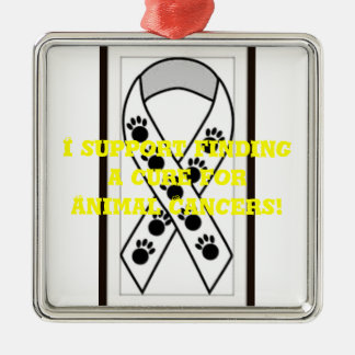 I support finding a cure for Animal Cancers Christmas Ornament