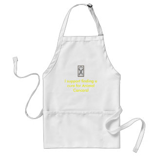 I support finding a cure for Animal Cancers! Standard Apron