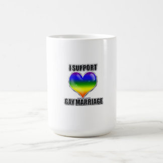 I support gay marriage coffee cup basic white mug
