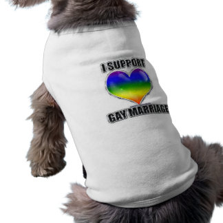 I support gay marriage dog shirt