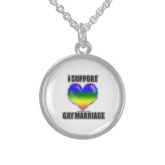 I support gay marriage necklace