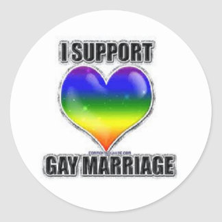 I support gay marriage stickers