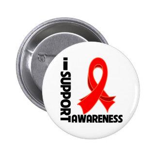I Support Heart Disease Awareness Pin