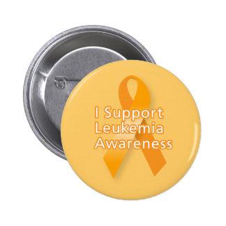 I Support Leukaemia Awareness 6 Cm Round Badge
