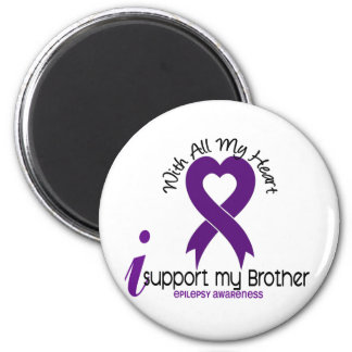 I Support My Brother Epilepsy 6 Cm Round Magnet