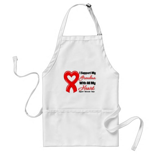 I Support My Grandma With All My Heart Aprons