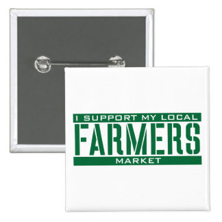 I Support my local Farmers Market Button