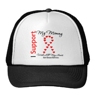 I Support My Mommy - Heart Disease Mesh Hat