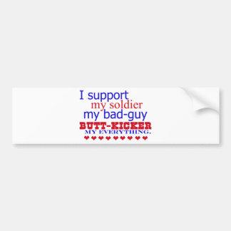 I support my soldier, bumper sticker