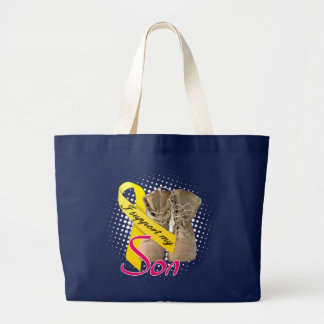 I support my Son Large Tote Bag