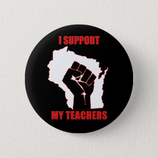 I support my teachers 6 cm round badge