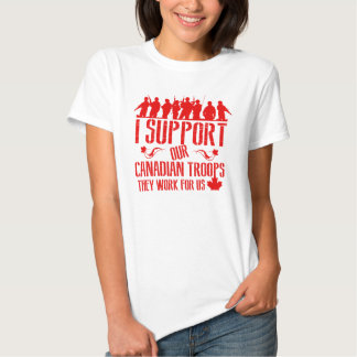 I Support OUR Canadian Troops Tshirt