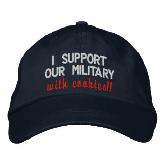 I support our military with cookies!! Darker Hats Embroidered Hats
