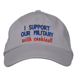 I support our military with cookies embroidered hat