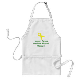 I support Parents who have Adopted Children! Standard Apron