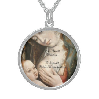 I Support Public Breastfeeding Sterling Silver Necklace
