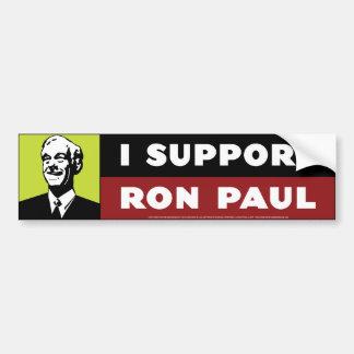 I Support Ron Paul - Neon Bumper Sticker