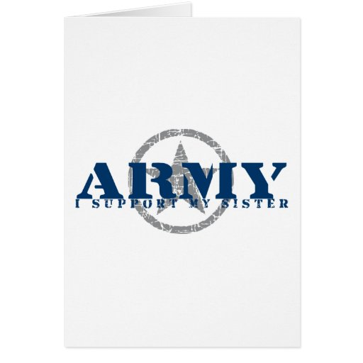 I Support Sister - ARMY Cards