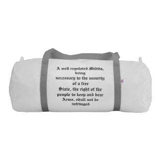 I support the 2nd Amendment Gym Duffel Bag