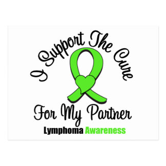 I Support The Cure For My Partner Postcard