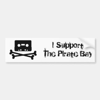 I Support The Pirate Bay Bumper Sticker