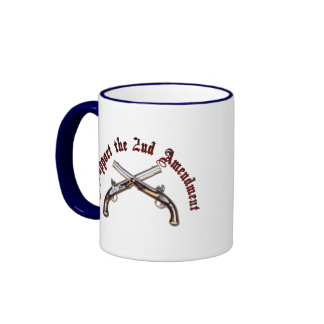 I Support the Second Amendment Ringer Coffee Mug